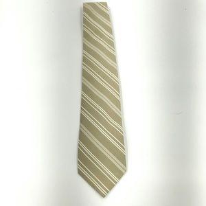 Perry Ellis Portfolio Tan Striped Necktie